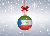 Christmas background equatorial guinea — Vector de stock