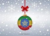 Christmas background ethiopia — Stock Vector
