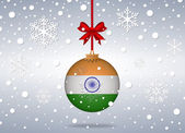 Christmas background india — Vector de stock