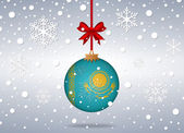 Christmas background kazakhstan — Vector de stock