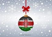 Christmas background kenya — Stock Vector