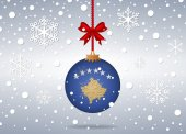Christmas background kosovo — Stock Vector