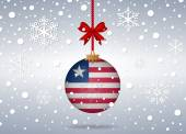 Christmas background liberia — Vector de stock