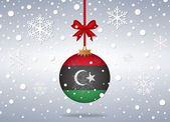 Christmas background libya — Stock Vector