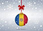 Christmas background moldova — Vector de stock