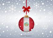 Christmas background peru — Vettoriale Stock