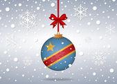 Christmas background republic congo — Stock Vector