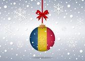 Christmas background romania — Stock Vector