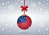 Christmas background samoa — Stock Vector