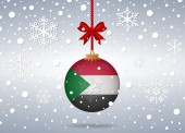 Christmas background sudan — Vector de stock