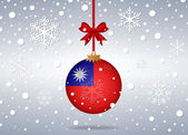 Christmas background taiwan — Stok Vektör