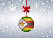 Christmas background zimbabwe — Stock Vector