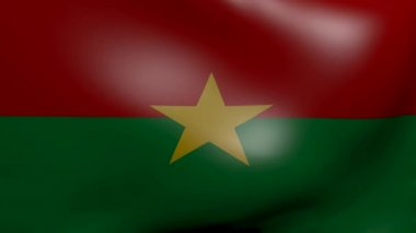 Burkina strong wind flag — Stock Video