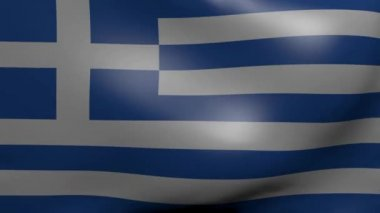 Greece strong wind flag — Stock Video