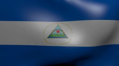Nicaragua strong wind flag — Stock Video