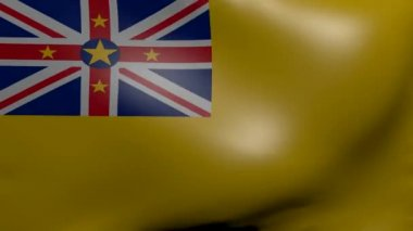 Niue strong wind flag — Stock Video