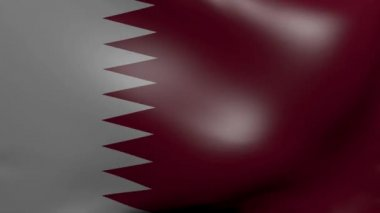 Qatar strong wind flag — Stock Video