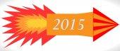 Happy New Year 2015 - Rocket — Stockvector