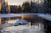 在冬天的河 — 图库照片