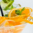 Orange and lime Mojito over white background — Stock Photo #51863975