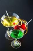 Three refreshing citrus cocktails  — Stock fotografie