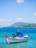 Harbor of Nidri on Lefkas island — Stock Photo