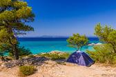 Beautiful beach in Greece — Stock Photo