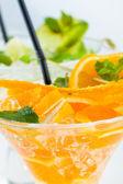 Fresh Lime and Orange Mojito  — Stock Photo