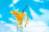 Fresh orange Mojito cocktail  with twist — Stock Photo
