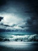 Storm seascape in the Ionian  — Stock Photo