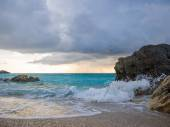 The famous Kathisma beach in Lefkada  — 图库照片