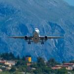 ������, ������: Olympic airways aircraft in Corfu Greece
