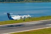Olympic airways aircraft  in Corfu Greece — Stockfoto