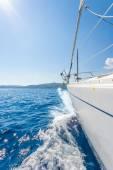 Sailing yacht in Lefkada Greece — Stock Photo
