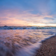 Tropical sunset on the beach. Ao-Nang. Krabi — Stock Photo #58987751