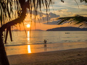 Sunset in Krabi Thailand — Stock Photo