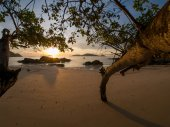 Beach in Thailand at sunrise  — Zdjęcie stockowe