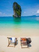Chair on the beautiful beach — Stock Photo