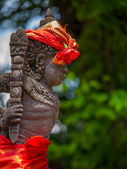 Stone sculpture on entrance door of the Temple in Bali  — Stock Photo
