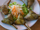 Thailand Homok foods made from meat, fish, curry pastecoconut cr — Stock Photo