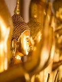 Buddha statues , Face of gold buddha, Thailand  — Stock Photo
