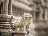 Model of the old temple in the rand Palace in Bangkok — Stock Photo