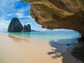 The railay tropical beach thailand — Stock Photo