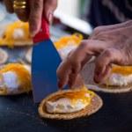 Thai sweet flavour crispy fancy pancake closeup  — Stock Photo #61628101