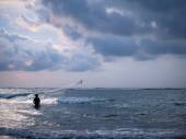 Fisherman on the beach of Kuta in Bali  — Foto de Stock