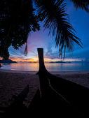 красивый рассвет в раваи пхукет — Стоковое фото