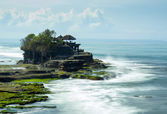 The Tanah Lot temple, in Bali island — Stock Photo