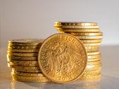 Twenty Deutsch Mark coins — Stock Photo