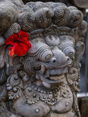 Ancient Balinese statue at the temple in Bali — Стоковое фото