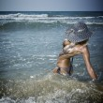 Woman on the beach — Stock Photo #70875813